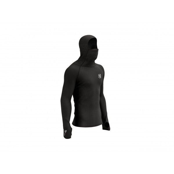Кофта Compressport 3D Thermo Ultralight Racing Hoodie Черная