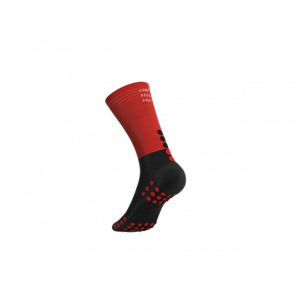 Носки Compressport MID COMPRESSION SOCKS Черно/красные