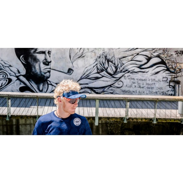 Козырек Compressport VISOR SPIDERWEB ULTRALIGHT MONT BLANC Синий