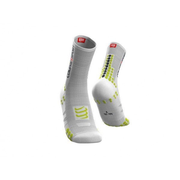 Носки Compressport PRO SOCKS BIKE V3.0 Белый/лаймовый