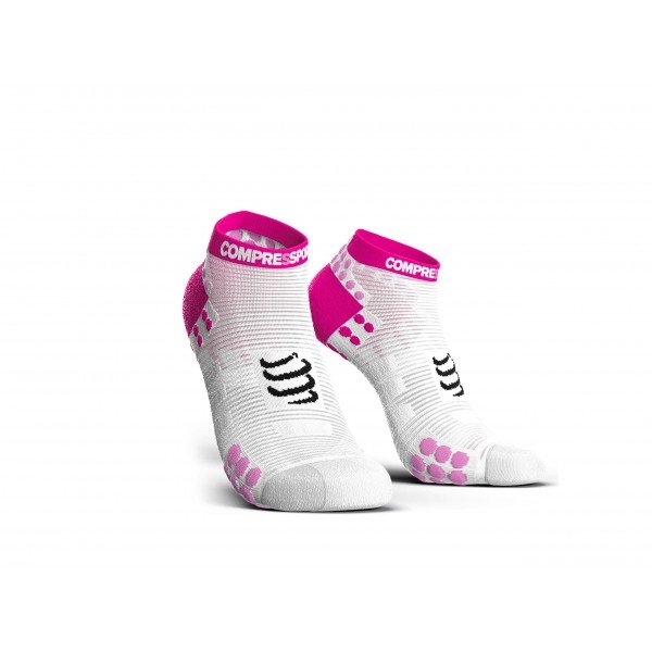 Носки Compressport PRO RUN LOW V3.0 Бело/розовые