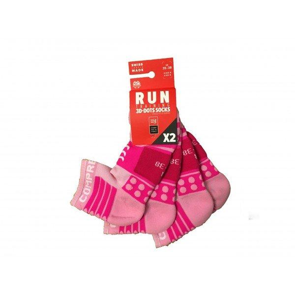 Носки Compressport Training Socks 2 пары Розовые