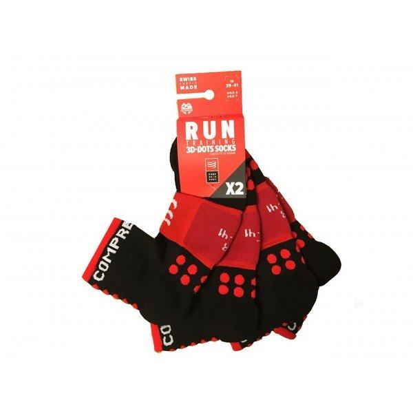Носки Compressport Training Socks 2 пары Черные