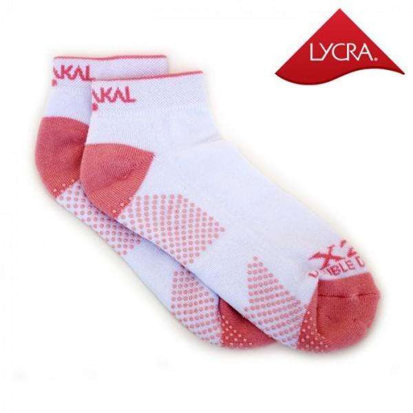 Носки Karakal X2+ Ladies Trainer Socks 36-37 Белые/кораловые