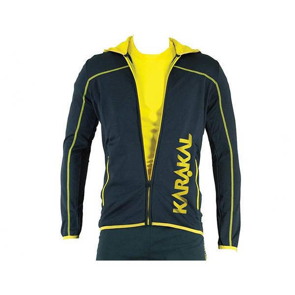 Кофта Karakal Pro Tour Hoody 2019 (графитовый/желтый)